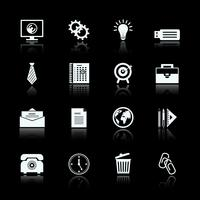 Business office supplies pictograms set