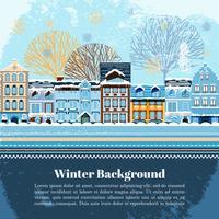 Modello di cartolina dell'invito invernale
