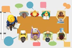 Mensen uit het bedrijfsleven in de vergaderzaal
