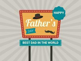 Alles Gute zum Vatertag Zeichen