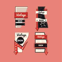 Vintage Sign Template vector
