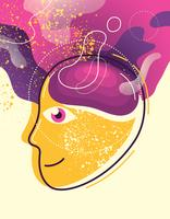 Ilustração de saúde mental