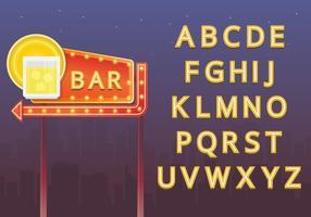 Retro- Alphabet-Set und Retro- Zeichenabbildung