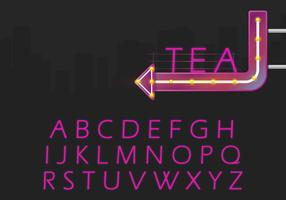 Alphabet rétro et Illustration de signe rétro