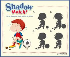 Game template with matching injured boy vector