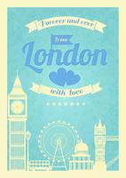 Affiche rétro vintage Love London
