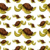 Naadloze achtergrond met schildpadden
