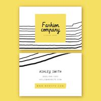 Yellow Fashion With Doddle Business Card