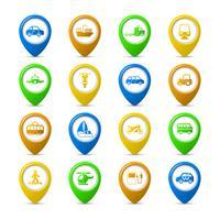 Navigation pins set