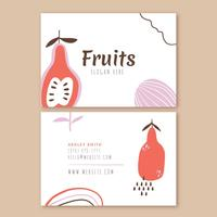 Business Card With Fruits And Doodles