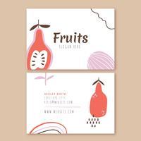 Visitkort Med Frukt Och Doodles