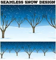 Fundo sem costura com árvores e neve