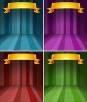Cuatro diferentes etapas de color con cinta.