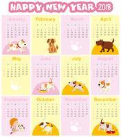 Modèle de calendrier pour 2018
