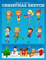 Menschen und Weihnachtszeit