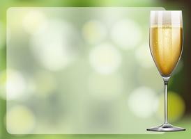 Cadre design avec verre de champagne