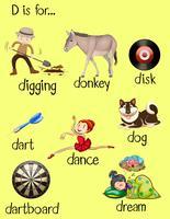 Olika ord för bokstav D
