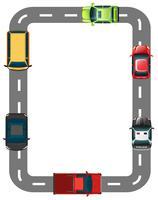 Fronteira com estrada e carros