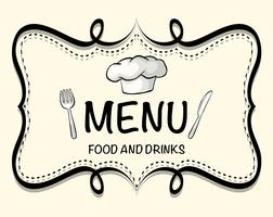 Logo design of restaurant menu