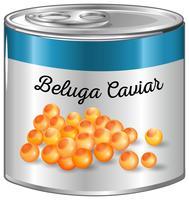 Beluga caviar in aluminum can