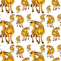 Seamless background design with giraffes