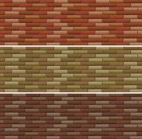 Road and wall design with bricks