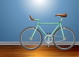 Vintage bicycle in the room vector