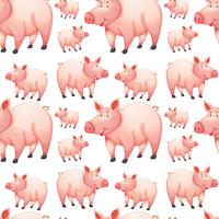 Seamless background with farm pigs