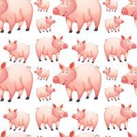 Fondo transparente con cerdos de granja