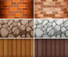 Background pattern with bricks and woods