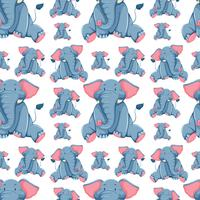 Seamless background design with elephants