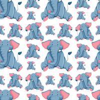 Diseño de fondo transparente con elefantes