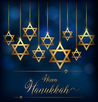 Happy Hannukkah with star symbol of jews