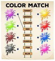 Matching worksheet with colors and words