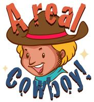 Real cowboy with text