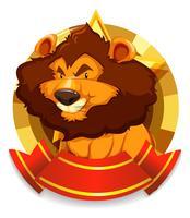 Banner Vorlage mit wilden Löwen