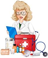 Doctor and medical equipments