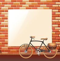 Blank board on brickwall vector