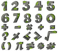 Font design for numbers and signs