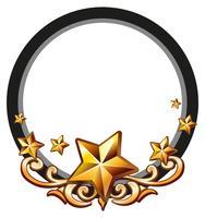 Logo design with golden stars vector