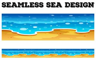 Seamless background design with blue ocean