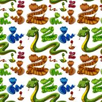 Seamless background with wild snakes