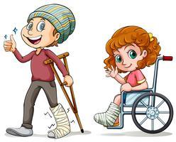 People with broken legs