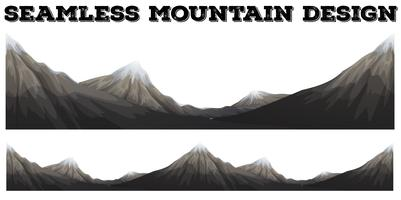 Seamless mountain with snow peak vector