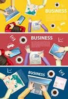 Infographic design for business people working