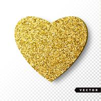 Gold Sparkles Heart