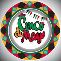 Cinco de Mayo card template with round design