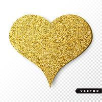 Guld Sparkles Heart