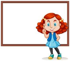 Modelo de placa com garota feliz