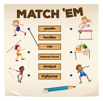 Matching game voor sport